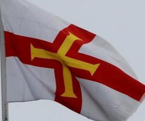 Puzle Bandeira de Guernsey