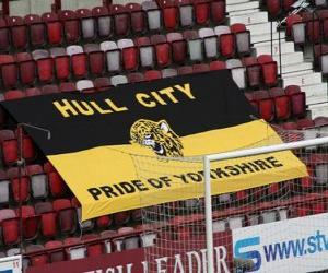 Puzle Bandeira de Hull City A.F.C.