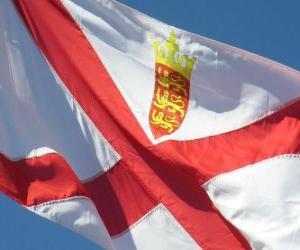 Puzle Bandeira de Jersey