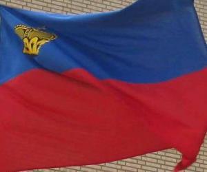 Puzle Bandeira de Liechtenstein