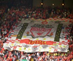 Puzle Bandeira de Liverpool F.C.
