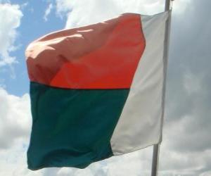 Puzle Bandeira de Madagáscar
