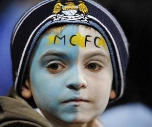 Puzle Bandeira de Manchester City F.C.