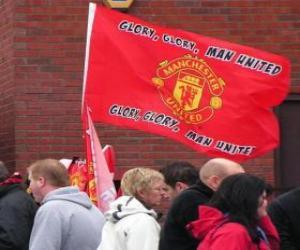 Puzle Bandeira de Manchester United F.C.