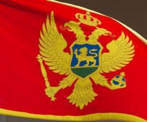 Puzle Bandeira de Montenegro