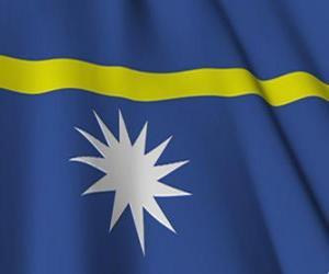 Puzle Bandeira de Nauru