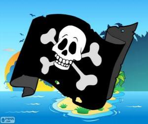 Puzle Bandeira de pirata Júnior