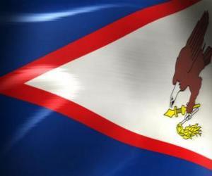 Puzle Bandeira de Samoa Americana