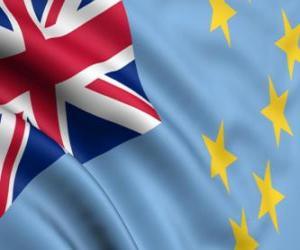 Puzle Bandeira de Tuvalu