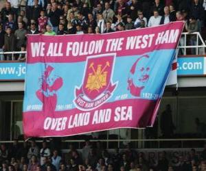 Puzle Bandeira de West Ham United F.C.