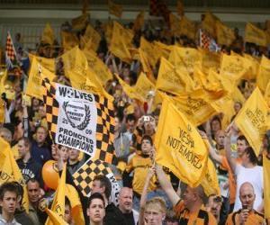 Puzle Bandeira de Wolverhampton Wanderers F.C.