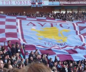 Puzle Bandeira do Aston Villa FC