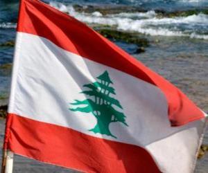 Puzle Bandeira do Líbano