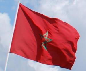 Puzle Bandeira do Marrocos