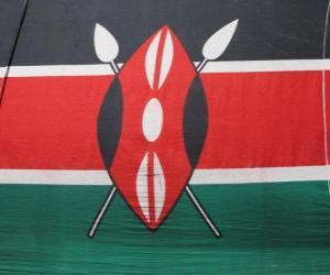 Puzle Bandeira do Quénia ou Quênia