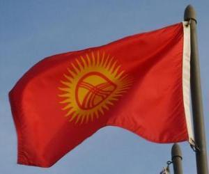 Puzle Bandeira do Quirguistão