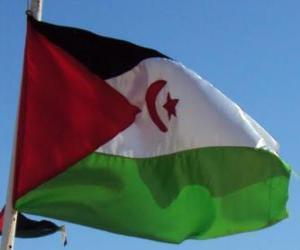 Puzle Bandeira do Saara Ocidental
