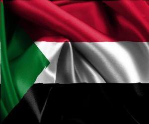 Puzle Bandeira do Sudão