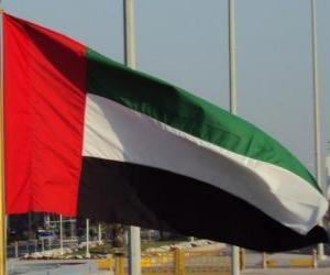 Puzle Bandeira Emirados Árabes Unidos