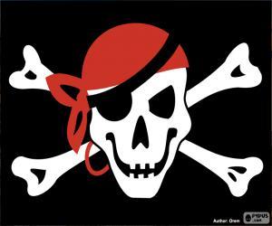 Puzle Bandeira pirata Jolly Roger