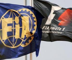 Puzle Bandeiras da Federação Internacional de Automobilismo