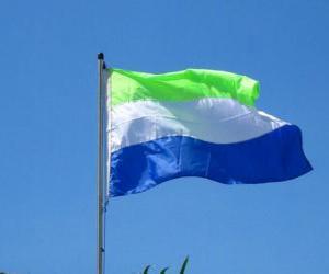 Puzle Bandera de Serra Leoa