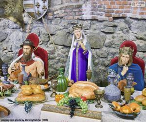 Puzle Banquete da Idade Média