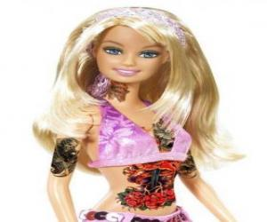 Puzle Barbie com tattoos