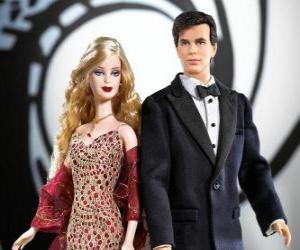 Puzle Barbie e Ken muito elegante