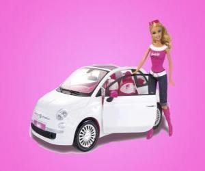 Puzle Barbie e seu Fiat 500