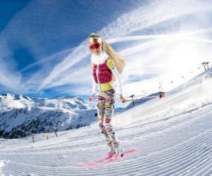 Puzle Barbie esquiar