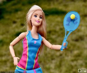 Puzle Barbie jogar tênis