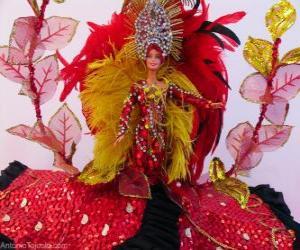 Puzle Barbie no carnaval