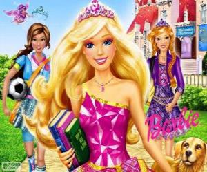 Puzle Barbie Princess na escola
