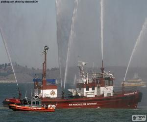 Puzle Barco bombeiro