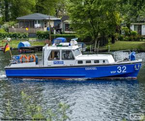 Puzle Barco da polícia, Alemanha