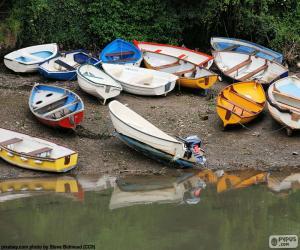 Puzle Barcos à beira