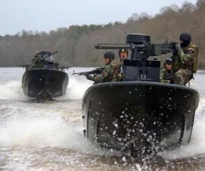 Puzle Barcos militares