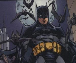 Puzle Batman com os seus amigos, os morcegos