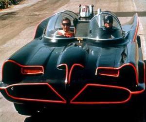 Puzle Batman e Robin em seu Batmóvel