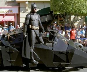 Puzle Batman em seu Batmóvel