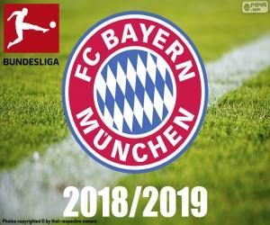 Puzle Bayern de Munique, campeão 2018-2019