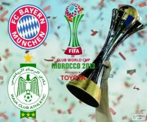 Puzle Bayern de Munique vs Raja Casablanca. Final de Copa do Mundo de Clubes da FIFA Marrocos 2013