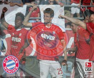 Puzle Bayern Múnich, campeão 2015-2016