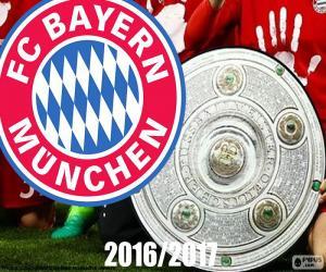 Puzle Bayern Múnich, campeão 2016-2017