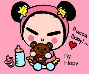 Puzle Bebê de Pucca