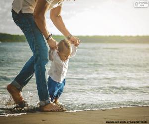 Puzle Bebê na costa