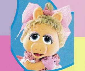 Puzle Bebê Piggy, o Muppet bebê Miss Piggy