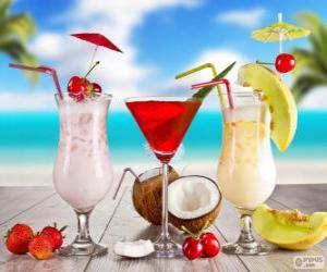 Puzle Bebidas para o verão