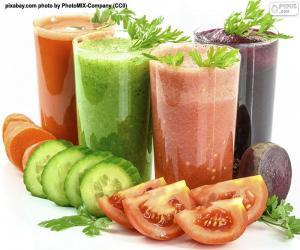 Puzle Bebidas vegatal